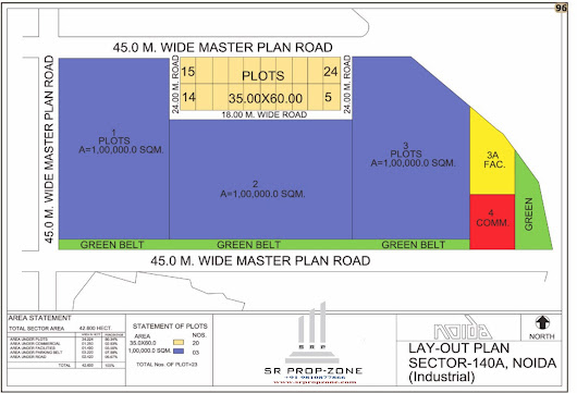 Layout Plan of Noida Sector-140A HD Map