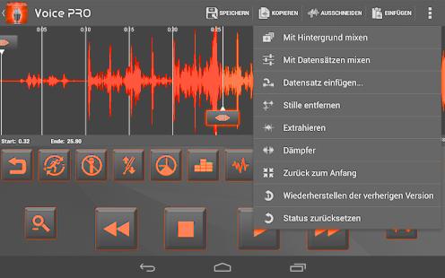 تطبيق Voice PRO - HQ Audio Editor النسخة المدفوعة مجانا