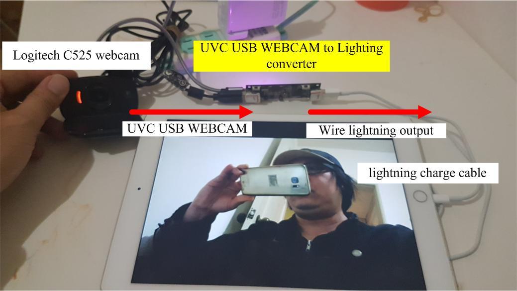 webcam to lightning converter for iOS