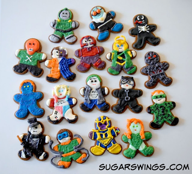 Super Hero Villain Cookies