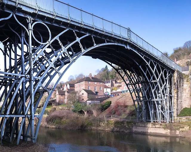 The Iron Bridge at Ironbridge Shropshire (England)