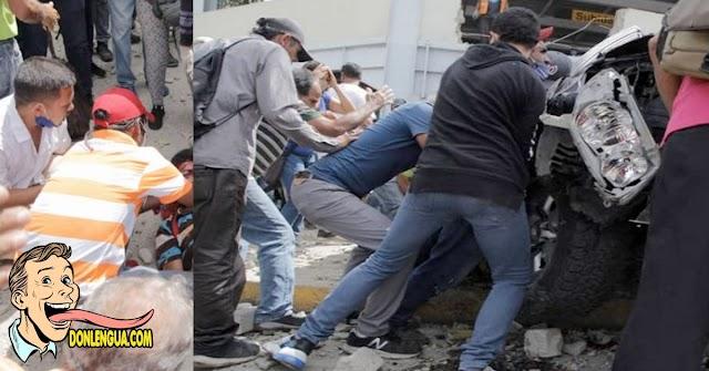 Una camioneta le cayó en la cabeza a un vigilante en Barquisimeto