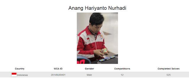 Anang Hariyanto Nurhadi merupakan cuber Indonesia yang menduduki peringkat kelima rubik 6x6