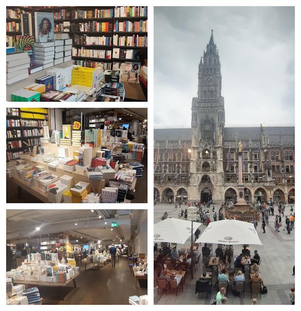 Vistas panorâmicas de Munique - vários lugares para subir e ver a cidade do alto! Livraria Hugendubel