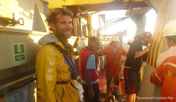 Pete Brown, hombre rescatado en alta mar