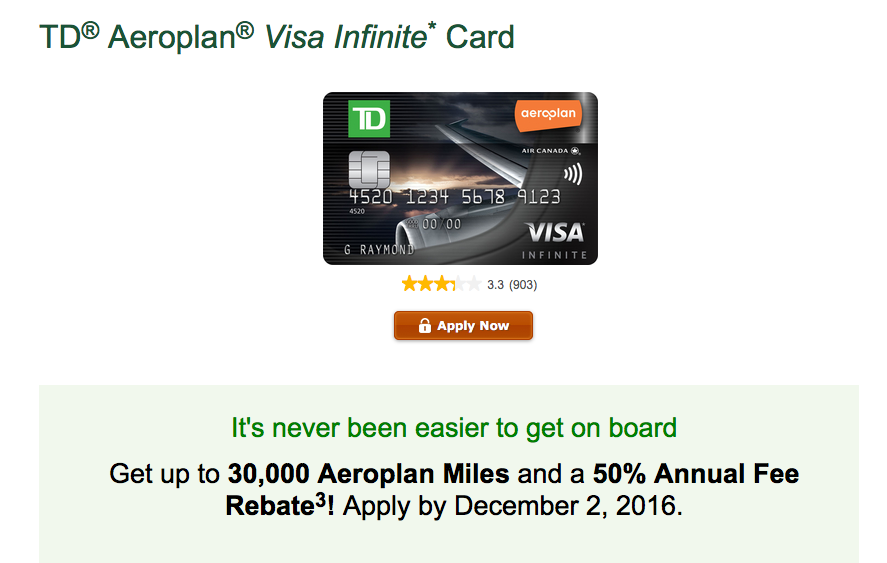 Rewards canada td aeroplan visa infinite sign up bonus increased to our exclusive offer for the td aeroplan visa infinite card ended over the weekend but we are pleased to bring you the general offer for the next wave of up colourmoves