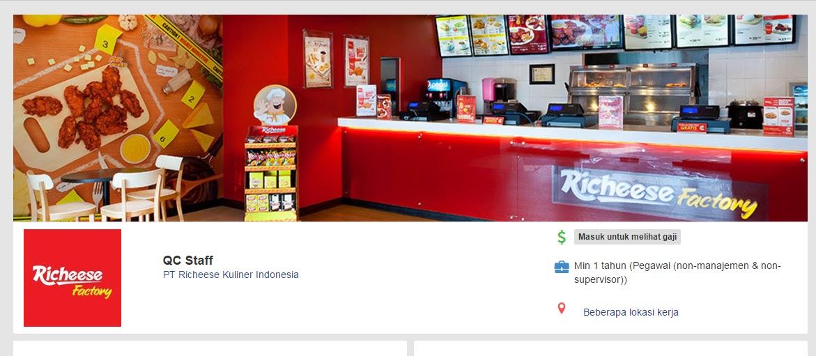 Seputar Lowongan Kerja Terbaru 2017 February Dengan Posisi Staff Qc Di Pt Richeese Kuliner Indonesia Seputar Lowongan Kerja