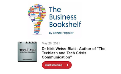 Business Bookshelf Podcast Dr. Nirit Weiss-Blatt The Techlash