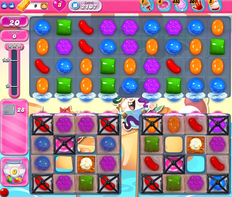 Candy Crush Saga level 2107