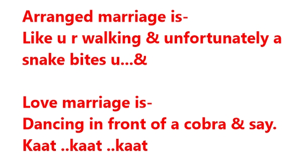 arranged marriage funny jokes quotes pictures and much more to laugh