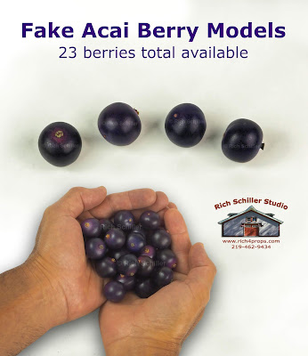 Fake acai berries, Faux acai berries, acai berry models, acai berry props,