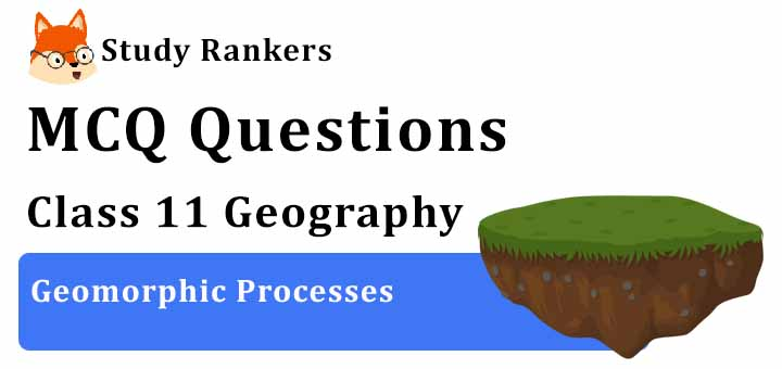 MCQ Questions for Class 11 Geography: Ch 6 Geomorphic Processes
