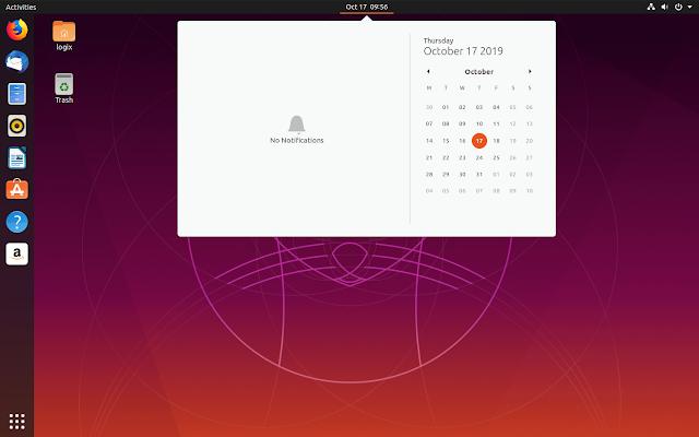 Ubuntu 19.10 Yaru screenshots