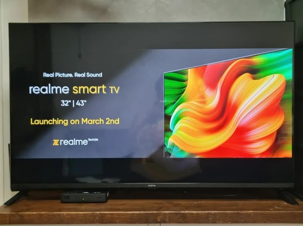 realme Smart TV Very Slim Bezels