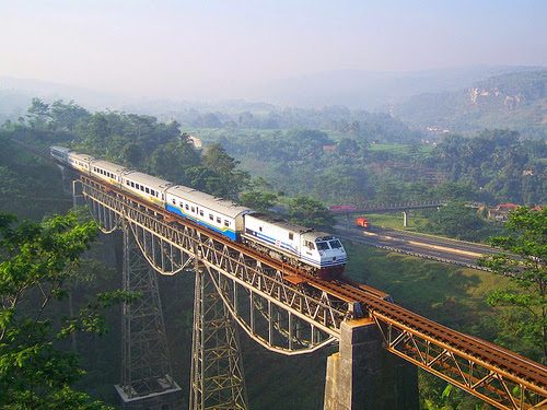 Argo Gede Train Railroad, Indonesia
