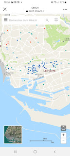 La carte des zones végétalisees par les particuliers est flagrante. Les zones du quartier Sainte-Anne sont particulièrement actives. Elles ont aussi la particularité d'être peu passantes. La végétalisation va désormais être autorisée dans tous les quartier. On verra ce que cela produira dans l'architecture Perret.