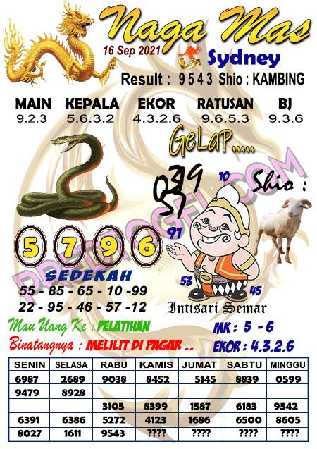 Syair Nagamas Sdy Kamis 16 September 2021