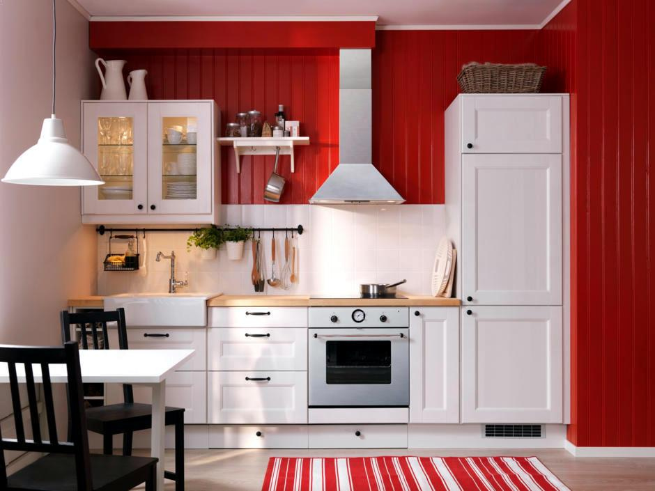 Red And White Country Kitchen Ideas For Small Design Pictures Modern