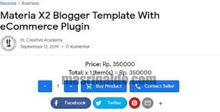 Review Template Materia X2 Premium Tema Blogger Anti Mainstream 4