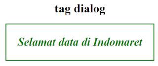 Tag dialog HTML 5