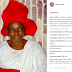 Popular Yoruba Gospel Artiste, Tope Alabi Loses Her 70 Year Old Mother