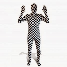 Checkered Trippy Rave skinsuit