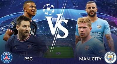 Link Live Streaming Liga Champion UEFA, PSG Vs Man. City Kamis Pukul 02.00 WIB