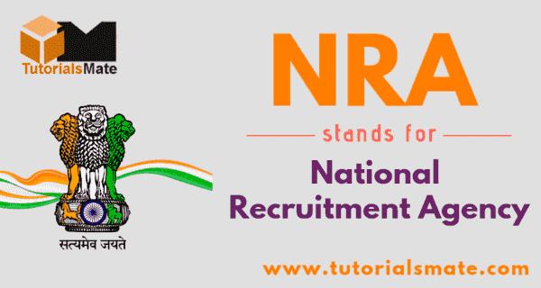 NRA Full Form