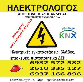 Ηλεκτρολόγος Πάτρα