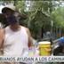 Colombiano alimenta a miles de caminantes venezolanos en Santander