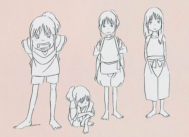 Living Lines Library 千と千尋の神隠し Spirited Away 2001 Character Design Model Sheets