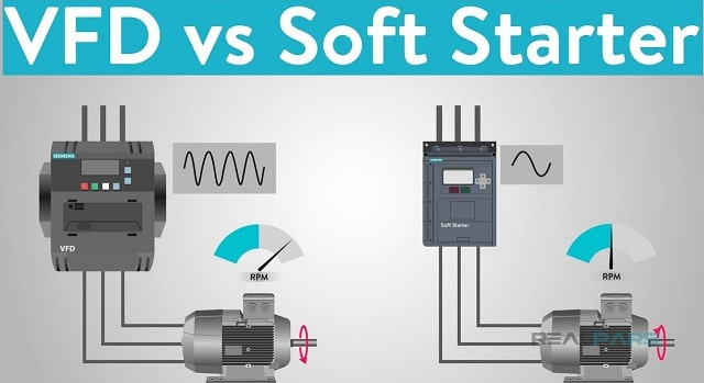 soft starters vs variable frequency drives vfd car starts