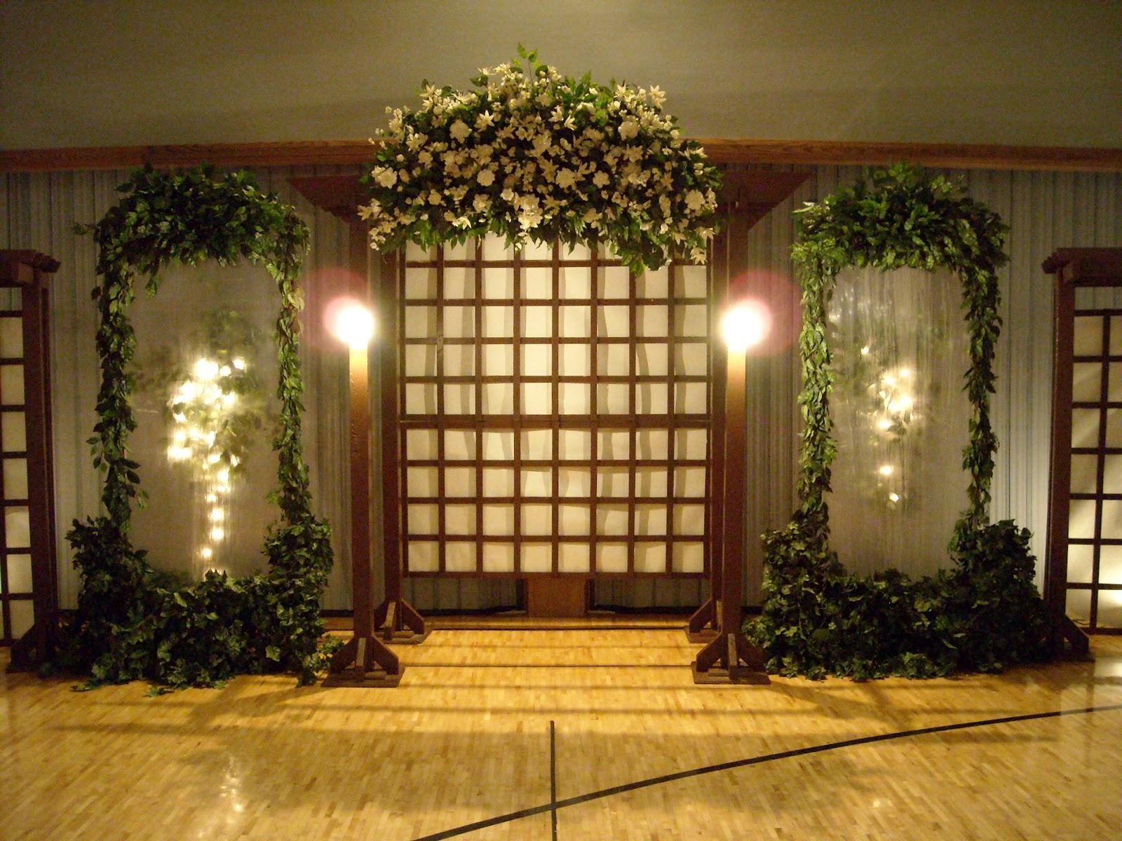 I Do Weddings Brown Garden Backdrop