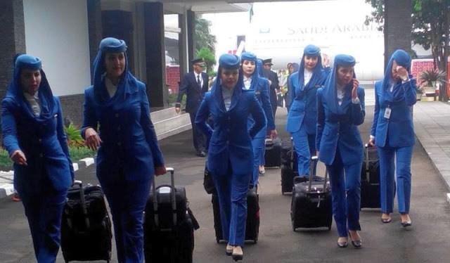 Ini Foto Pramugari-Pramugari Cantik Saudi Arabian Yang Datang Ke Jakarta