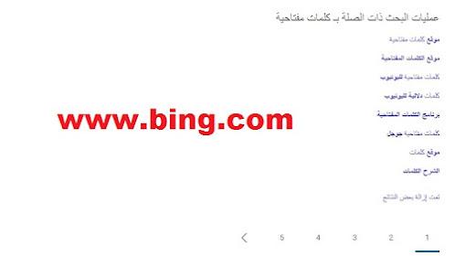برنامج الكلمات المفتاحية من بينج