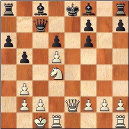 Partida de ajedrez Iváñez Rico vs Araujo Pereira, posición después de 14.exd5+