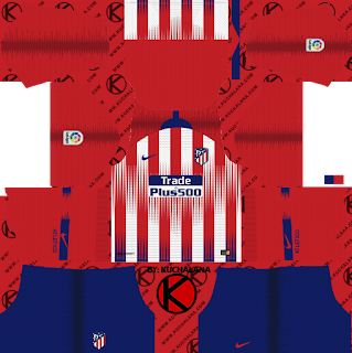 Atletico Madrid 2018/19 Kit - Dream League Soccer Kits