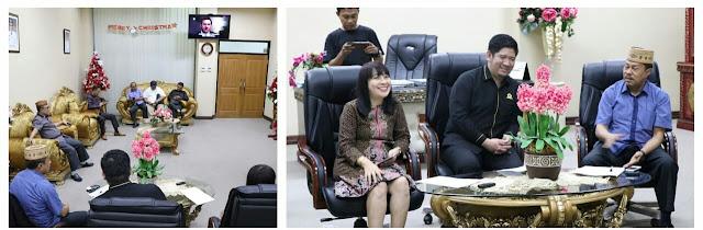 Sekwan Dampingi Anggota DPRD Sulut Terima Kunjungan Banmus DPRD Gorontalo