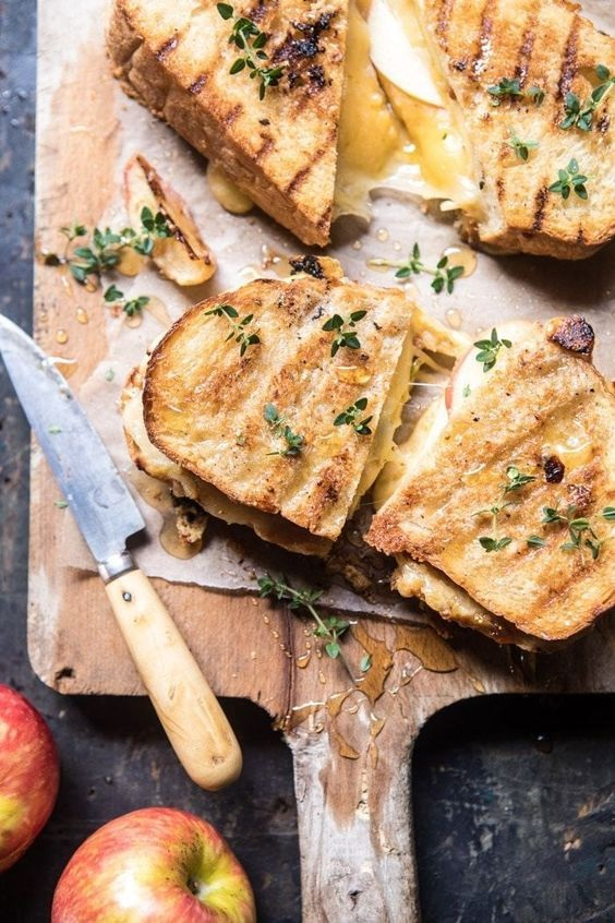 Honey Apple Cheddar And Bacon Panini