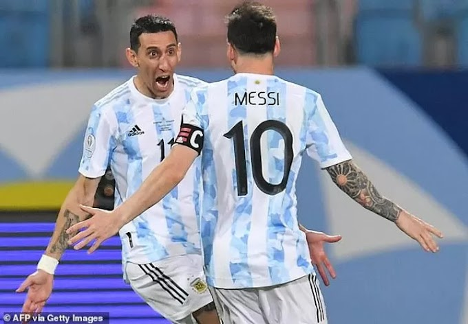 Di Maria reveals Lionel Messi THANKED him for ending international trophy wait