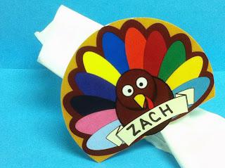 Printable Turkey Napkin Place Card by Kims Kandy Kreations