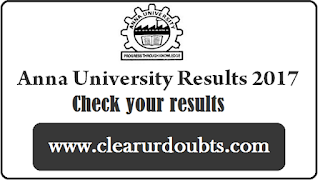 Anna University Results Nov Dec 2017 Exam UG PG