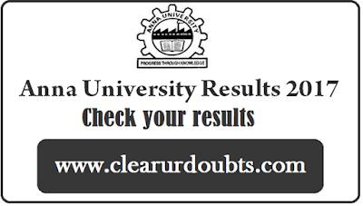 "Anna University Results Nov Dec 2017 Expected ""date"" UG PG"