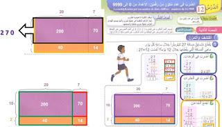 دروس رقمية في الرياضيات - درس الضرب في عدد مكون من رقمين