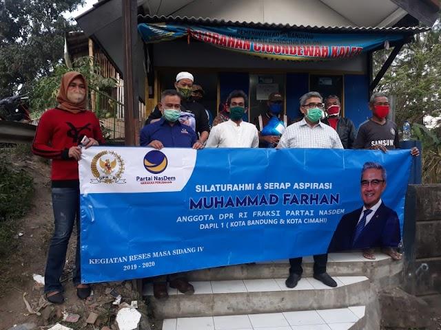 Muhammad Farhan Beri Bantuan Untuk Pembangunan Fasum di Bandung dan Cimahi