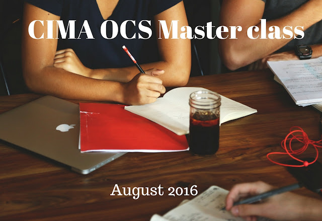 OCS - Master class full video - August 2016 - CIMA