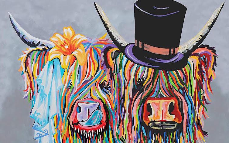 cuadro - pintura - vacas - vacaslecheras.net