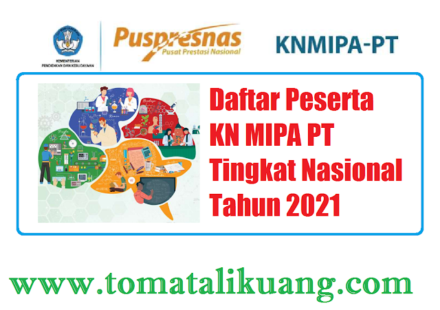 peserta kn mipa pt tingkat nasioanl tahun 2021 tomatalikuang.com