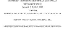 JUKNIS BOS REGULER 2020 (Permendikbud Nomor 8 Tahun 2020)