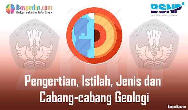 Pengertian, Istilah, Jenis dan Cabang-cabang Geologi